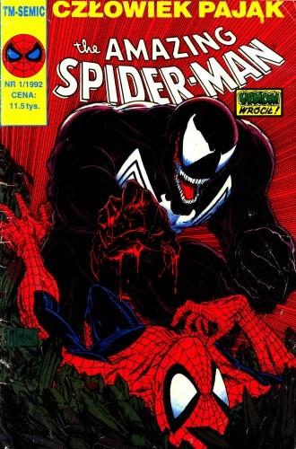 Okładka książki The Amazing Spider-Man 1/1992