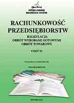 Okładka książki Rachunkowość przedsiębiorstw cz.III
