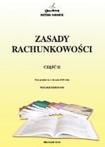 Okładka książki Zasady rachunkowości cz.II
