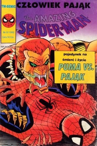 Okładka książki The Amazing Spider-Man 8/1992