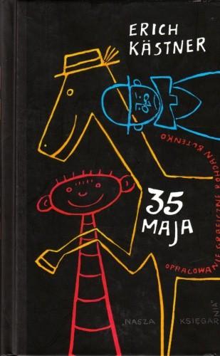 Okładka książki 35 maja albo jak Konrad pojechał konno do mórz południowych