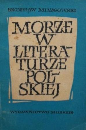 Okładka książki Morze w literaturze polskiej