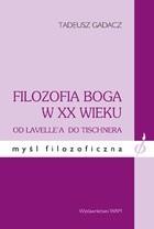 Okładka książki Filozofia Boga w XX wieku
