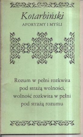 Okładka książki Aforyzmy i myśli