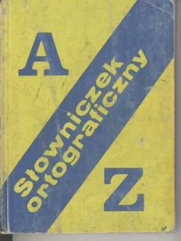 Okładka książki Słowniczek ortograficzny