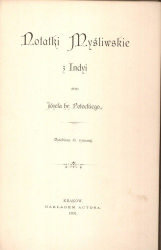 Okładka książki Notatki Myśliwskie z Indyi