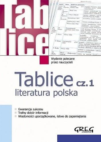 Okładka książki Tablice cz.1 Literatura polska