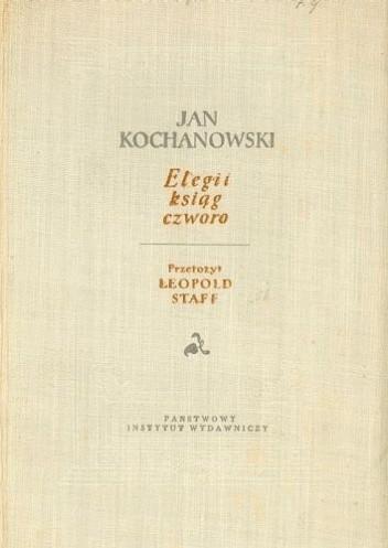 Okładka książki Elegii ksiąg czworo