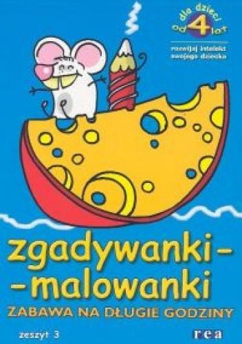 Okładka książki zgadywanki - malowanki. zeszyt 3