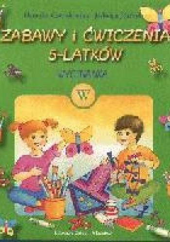 Okładka książki zabawy i ćwiczenia 5-latków wycinanka