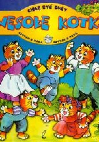 Okładka książki Wesołe kotki-chcę być duży
