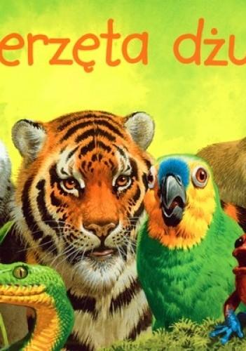 Okładka książki zwierzęta dżungli-rozkładanaka