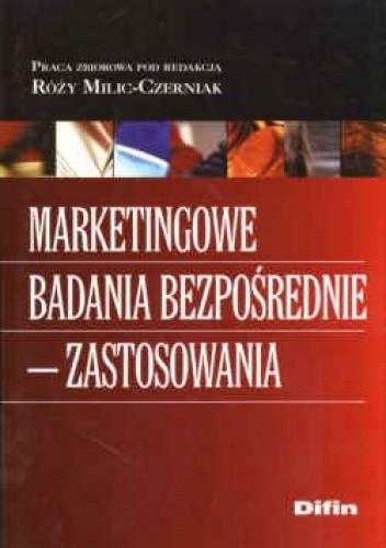 Okładka książki Marketingowe badania bezpośrednie  zastosowania