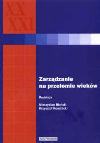 Okładka książki zarządzanie na przełomie wieków