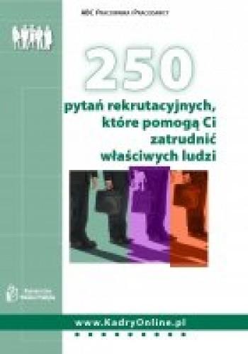 Okładka książki 250 pytań rekrutacyjnych