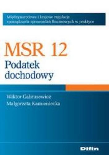 Okładka książki MSR 12. Podatek dochodowy