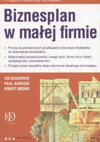 Okładka książki Biznesplan w małej firmie