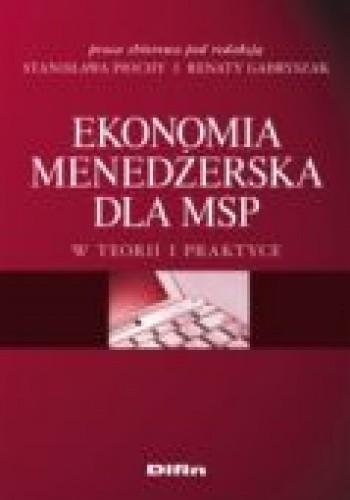 Okładka książki Ekonomia menedżerska dla MSP