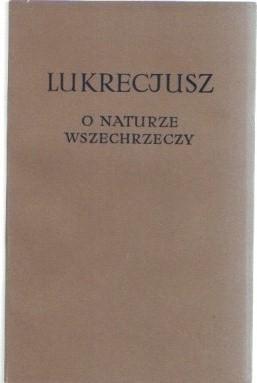Okładka książki O naturze wszechrzeczy
