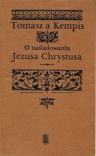Okładka książki O naśladowaniu Jezusa Chrystusa