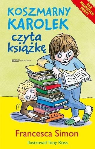 Okładka książki Koszmarny Karolek czyta książkę