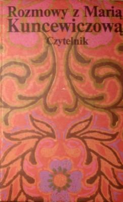 Okładka książki Rozmowy z Marią Kuncewiczową