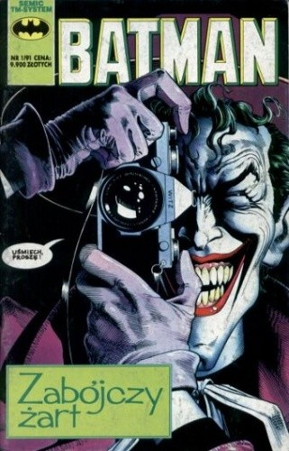 Okładka książki Batman - nr 2 (1/1991): Zabójczy żart