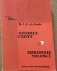 Okładka książki Niedole cnoty. Zbrodnie miłości