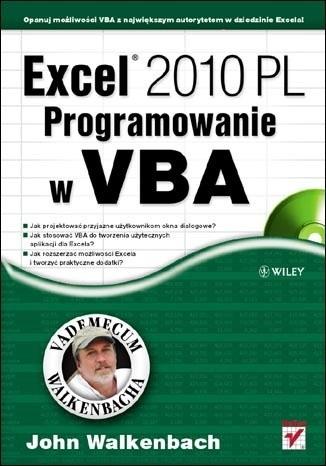 Okładka książki Excel 2010 PL. Programowanie w VBA. Vademecum Walkenbacha