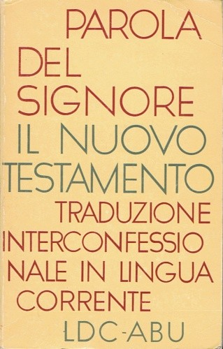 Okładka książki Parola del Signore. Il Nuovo Testamento
