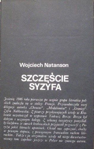 Okładka książki Szczęście Syzyfa