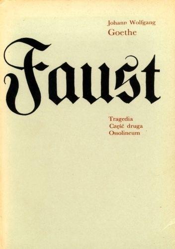 Okładka książki Faust. Tragedia. Część druga