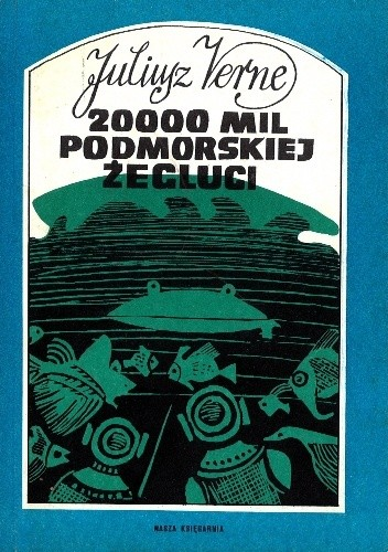 Okładka książki 20000 mil podmorskiej żeglugi