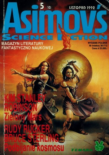 Okładka książki Isaac Asimov's Science Fiction - Listopad 1992 5/10/