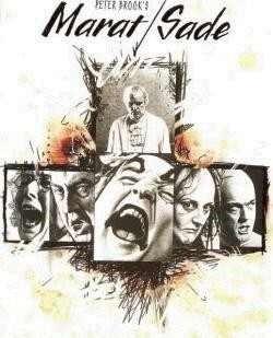 Okładka książki Męczeństwo i śmierć Jean Paul Marata przedstawione przez zespół aktorski przytułku w Charenton pod kierownictwem pana de Sade