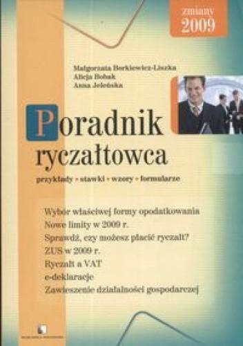 Okładka książki Poradnik ryczałtowca /przykłady stawki wzory formularze
