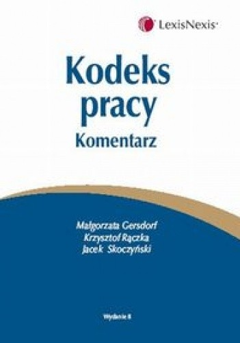 Okładka książki Kodeks pracy Komentarz