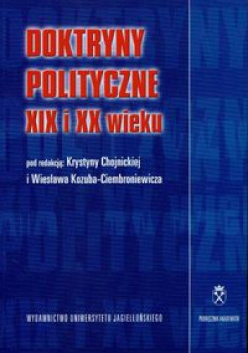 Okładka książki Doktryny polityczne XIX i XX wieku