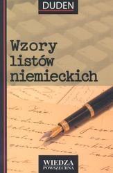 Okładka książki Wzory listów niemieckich
