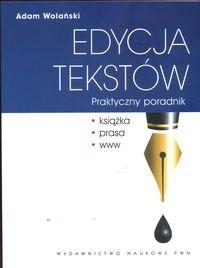 Okładka książki Edycja tekstów. Praktyczny poradnik
