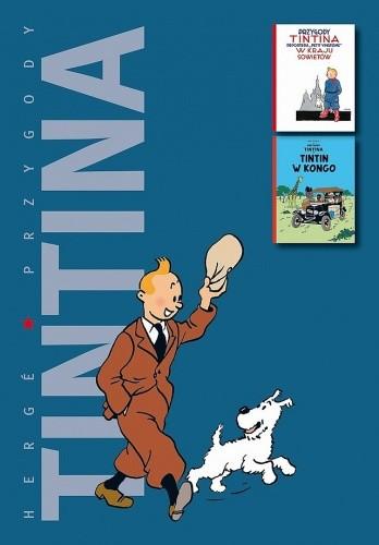 """Okładka książki Przygody Tintina reportera """"Petit Vingtieme"""" w kraju Sowietów / Tintin w Kongo"""