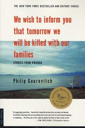 Okładka książki We wish to inform you that tomorrow we will be killed with our families. Stories from Rwanda