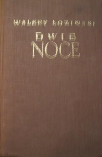 Okładka książki Dwie noce