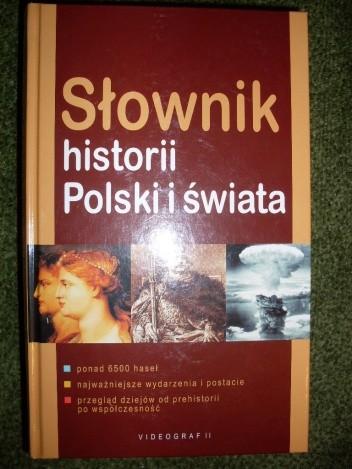 Okładka książki Słownik historii Polski i świata