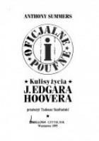 Oficjalne i poufne: kulisy życia J. Edgara Hoovera