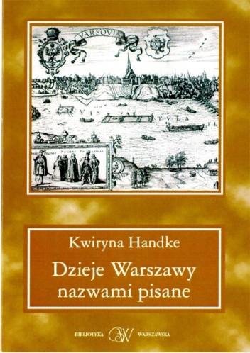 Okładka książki Dzieje Warszawy nazwami pisane