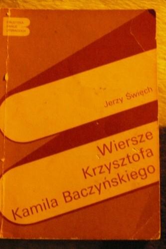 Okładka książki Wiersze Krzysztofa Kamila Baczyńskiego