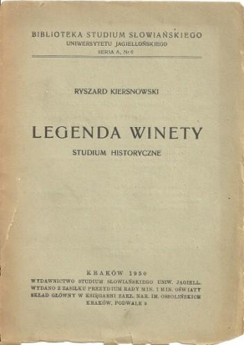 Okładka książki Legenda Winety. Studium historyczne