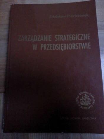 Okładka książki Zarządzanie strategiczne w przedsiębiorstwie