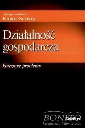 Okładka książki Działalność gospodarcza